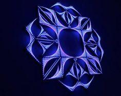 Dx de ciervos  arte cadena 12 espejos geometría sagrada