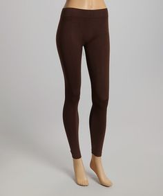 Another great find on #zulily! Brown Seamless Leggings #zulilyfinds