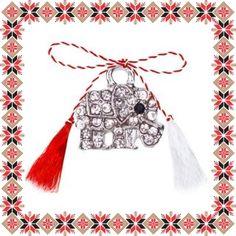 Martisor Pandantiv Elefant Mic Argintiu Pietre Tassel Necklace, Tassels, Jewelry, Jewlery, Jewerly, Schmuck, Jewels, Tassel, Jewelery