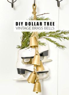 A budget-friendly way to create easy DIY vintage-inspired brass bells! Vintage Christmas, Christmas Crafts, Christmas Decorations, Christmas Ideas, Christmas Holiday, Holiday Ideas, Holiday Decor, Affordable Home Decor, Easy Home Decor
