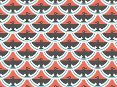 Organic Cloud 9 Enchanted Fire Birds Cotton Red - I really love the look of this fabric, the fish scale shaped pattern makes me think of the 1920's. I think it would make a great eclectic throw pillow