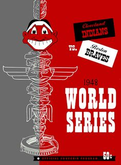 1948 World Series Program. Cleveland Indians vs Boston Braves #WorldSeries