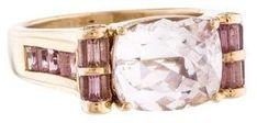 14K Kunzite & Pink Sapphire Ring #cosmiclovegems #affiliate #lithium #mothersday