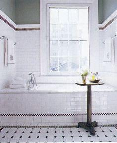 Bathroom Tile Ideas Black And White