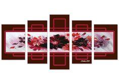 Tablou flori mov 2345 Dimensiune: 2x 30x45 + 2x 25x55 + 1x 25x70 cm Total: 135x70 cm Canvas 5, Advent Calendar, Holiday Decor, Modern, Design, Home Decor, Decoration Home, Interior Design, Design Comics