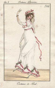 1802 Costume de Bal. Fashion Plate.
