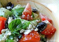 Mediterranean Salad - Did you know that May is Mediterranean Food Month?