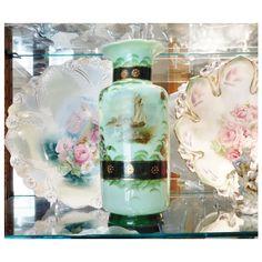 Antique Bristol Glass Vase 1800s Victorian by PattysPorcelainEtc ($149) found on Polyvore