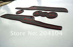 Ford Fiesta rubber car-cup mat/pad car accessories 4pcs