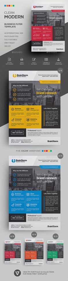 Clean Corporate Flyer Template  Flyer Template Business Flyers