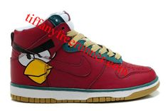 Red Bird Nike Dunk High Angry Birds Shoes