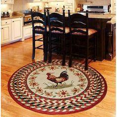 Orian Rooster Braid Rouge 63 & # & # Round Kitchen Area Rug Source by astridmorsch Round Kitchen Rugs, Kitchen Area Rugs, Red Kitchen, Kitchen Floor, Kitchen Stuff, Walmart Kitchen, Kitchen Brick, Kitchen Mat, Kitchen Redo