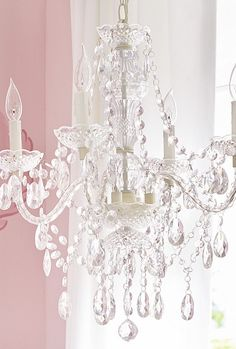 Bella Chandelier from Pottery Barn Kids. Shop more products from Pottery Barn Kids on Wanelo. Girls Chandelier, Nursery Chandelier, Painted Chandelier, Chandelier Lighting, Bedroom Chandeliers, Closet Chandelier, Bedroom Lighting, Capiz Chandelier, Chandelier Ideas