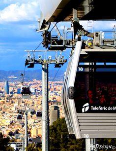 #Teleferic de #Montjuic #Barcelona