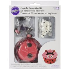 Wilton 415-0685 Ladybug Cupcake Decorating Kit, 2015 Amazon Top Rated Cupcake Toppers #Kitchen