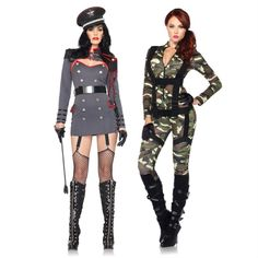 Sexy military costumes for Halloween adult costume! Love these!