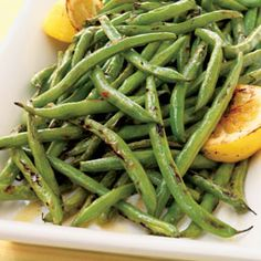 BBQ GRILLING #BBQ #Grilling Green Beans with Lemon Oil