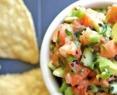 Salmon Tartare by A Nutritionist Eats
