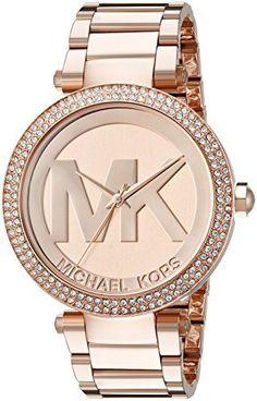 ae411ffe0a111 Michael Kors Women s 39mm Rose Steel Bracelet   Case Quartz Analog Watch  MK5865, http