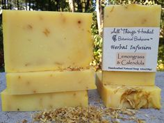 Lemongrass Handmade Soap – A Lemony Herbal Infusion Bar – Handcrafted Natural Soap – Sunshine in a Bar, Cold Process Soap