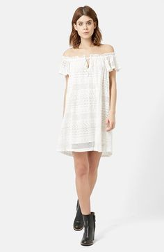 Topshop Lace Off the Shoulder Dress available at #Nordstrom