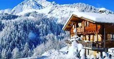 Winter in den Alpen .  #snow #winter #cold #mountain #chalet #wood #hut #ice #frozen #resort #season #panoramic #frost #alpine #snowy #evergreen #outdoors
