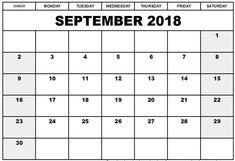 September 2019 Printable Calendar PDF, Word, Excel Template Don't Miss: September 2019 Calendar With Holidays Blank September Calendar 2019 Template Related 2018 Printable Calendar, Free Printable Calendar Templates, Excel Calendar, Monthly Calendar Template, Calendar 2018, Printables, Monthly Planner, Free Calendars To Print, Print Calendar