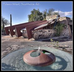 Taliesin West, Frank Lloyd Wright--toured the house when we were in Tucson- incredible..ms