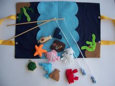 felt fishing game PDF file pattern @ https://www.etsy.com/nz/shop/LittleCuteOne