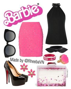 """""""Barbie 5"""" by rheebavn ❤ liked on Polyvore featuring Gucci, Moschino, Dolce&Gabbana, KOTUR, Christian Louboutin, Kate Spade, Yves Saint Laurent and Vivienne Westwood"""