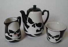 #Skull design tea set