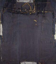 Antoni Tàpies - Violet Grey with Lines