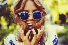 mirrored sunglasses!
