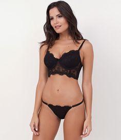 fa6e1c362 Calcinha feminina Modelo string Com regulagem Marca  Lov Tecido  tule  Modelo veste tamanho
