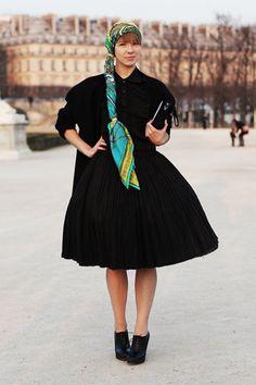 Vika Gazinksaya dress and Hermes Scarf!!
