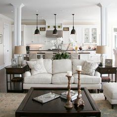 traditional living room by Staples Design Group- love the shades of white