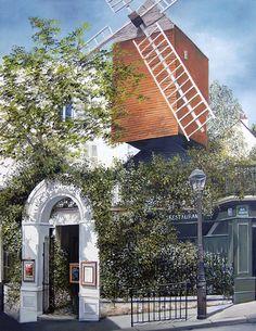 Marie-Claire Houmeau Le moulin de la Galette - Montmartre