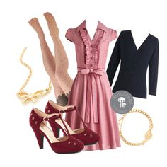 """""""About the Artist Dress in Red"""" by modcloth on Polyvore"""