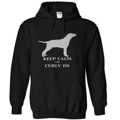 Keep Calm and Curly On with a Curly Coated Retriever T Shirt, Hoodie, Sweatshirt