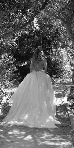 erin cole fall 2017 bridal long sleeves plunging neckline lace applique bodice ball gown wedding dress (ava) bv  illusion back train romantic princess