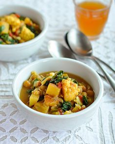 Curried Vegetable and Chickpea Stew - crockpot recipe