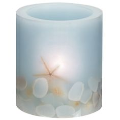 Along the Shore Flameless Candle Spa Blue