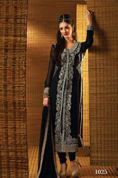 Sumptous Black Color Designer Salwar Kameez