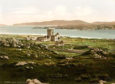 Iona Abbey in Scotland founded by St. Columba … http://corjesusacratissimum.org/2015/06/feast-of-st-columba/