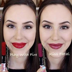 Rimmel Provocalips Lip Swatches: Play With Fire, Kiss Fatal - Beauty with Emily Fox 