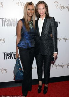 Model friends: Christy Turlington, 43,  and Iman, 57,  attend the Condé Nast Traveler Celebration of The Visionaries and 25 Years of Truth In Travel in New York City on Tuesday