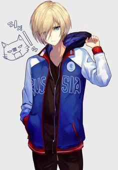 Yuri on Ice - Yuri Plisetsky Anime Boys, Hot Anime Boy, Manga Boy, I Love Anime, Yuri On Ice, Yuri Plisetsky Hot, Fanarts Anime, Anime Characters, Anime Style