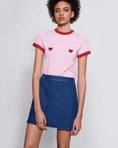 Lazy Oaf Flock Heart T-shirt - Spring 2017 - Seasons - Womens