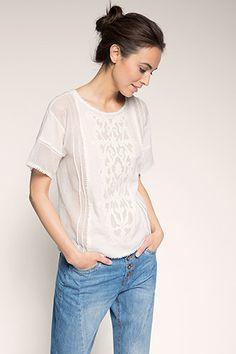 EDC / T-shirt tissé en coton mélangé