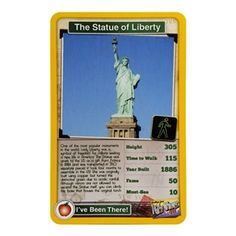 Taking a trip to #NewYork this summer? Learn about the city with Top Trumps, the new educational and fun game that is sweeping across the US. Featuring the #StatueofLiberty